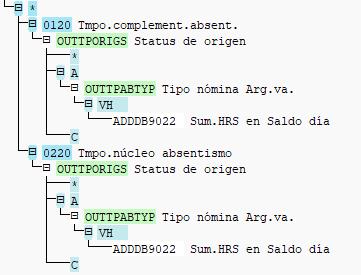 Operaciones OUTTPORIGS y OUTTPABTYP - Regla completa