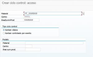 ÓRDENES DE PRODUCCION KANBAN 1 - Transacción PK01