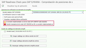Conversión a S4HANA Simplification item-check - SAP Readiness Check