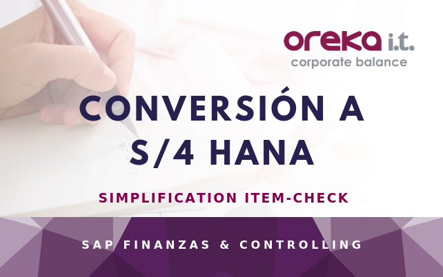 Conversión a S/4 HANA: simplification item-check