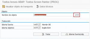 Manual Traducciones de Elementos de Texto en Reports SE63 - Añadir número dynpro