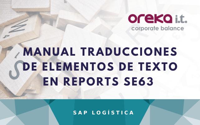 Manual Traducciones de Elementos de Texto en Reports SE63