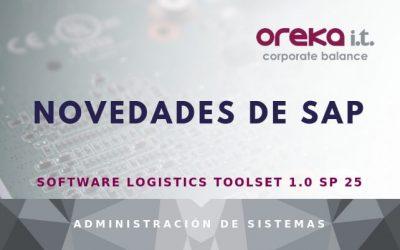 Novedades de SAP Software Logistics Toolset 1.0 SP 25