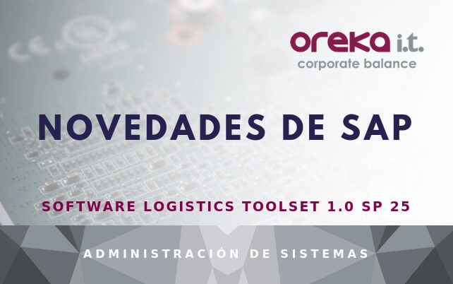 Novedades de SAP Software Logistics Toolset 1.0 SP 25