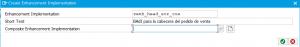 Creación de nueva pestaña en VA01 mediante BAdI - Lista enhancement implementations
