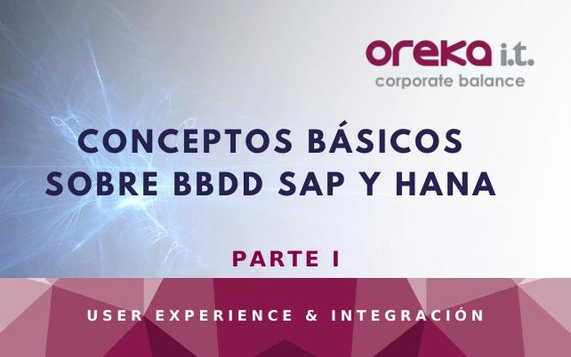 Conceptos básicos sobre BBDD SAP y HANA -1