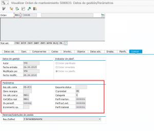 Mantenimiento industrial con análisis de costes (PM-CO) - Orden de mantenimiento