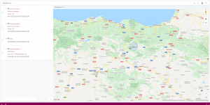 SAP Sales Cloud - vista de mapa