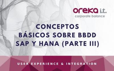 Conceptos básicos sobre BBDD SAP y HANA (Parte III)