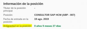 evaluacion de tiempos en ssff - informacion de la posicion