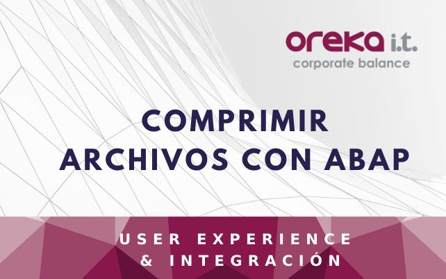 Comprimir archivos con ABAP