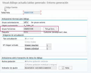 Como ampliar la ventana de la transacción SM30 - Generar Actualizador de tablas