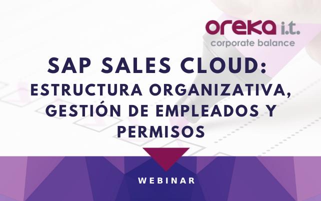 Webinar SAP Sales Cloud: estructura organizativa, gestión de empleados, usuarios y permisos