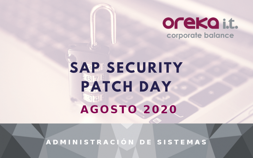 SAP Security Patch Day – Agosto 2020