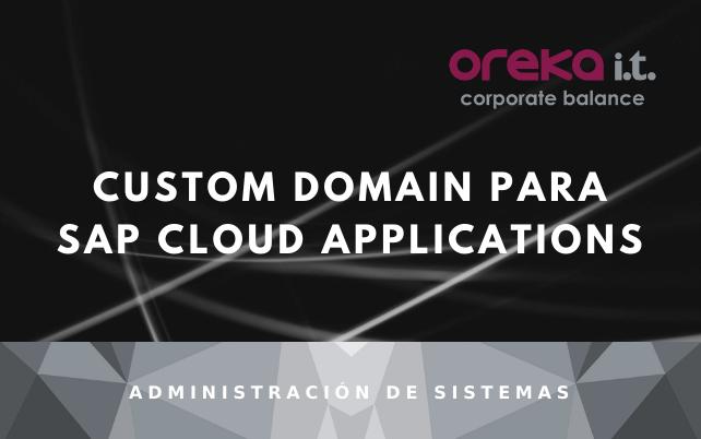 Custom domain para SAP Cloud Applications
