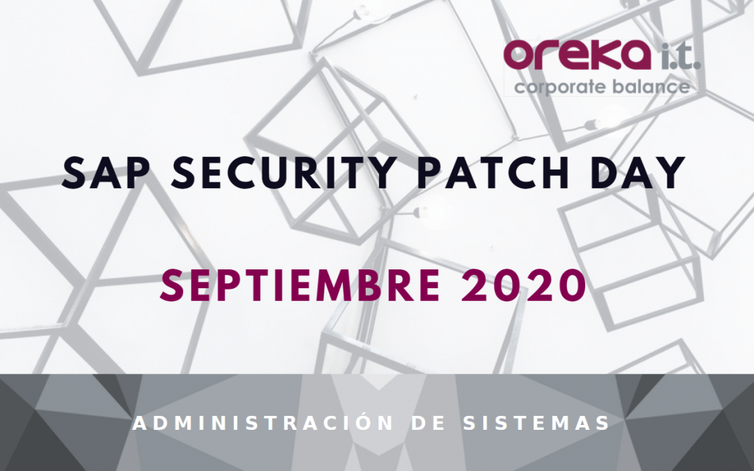SAP Security Patch Day – Septiembre 2020