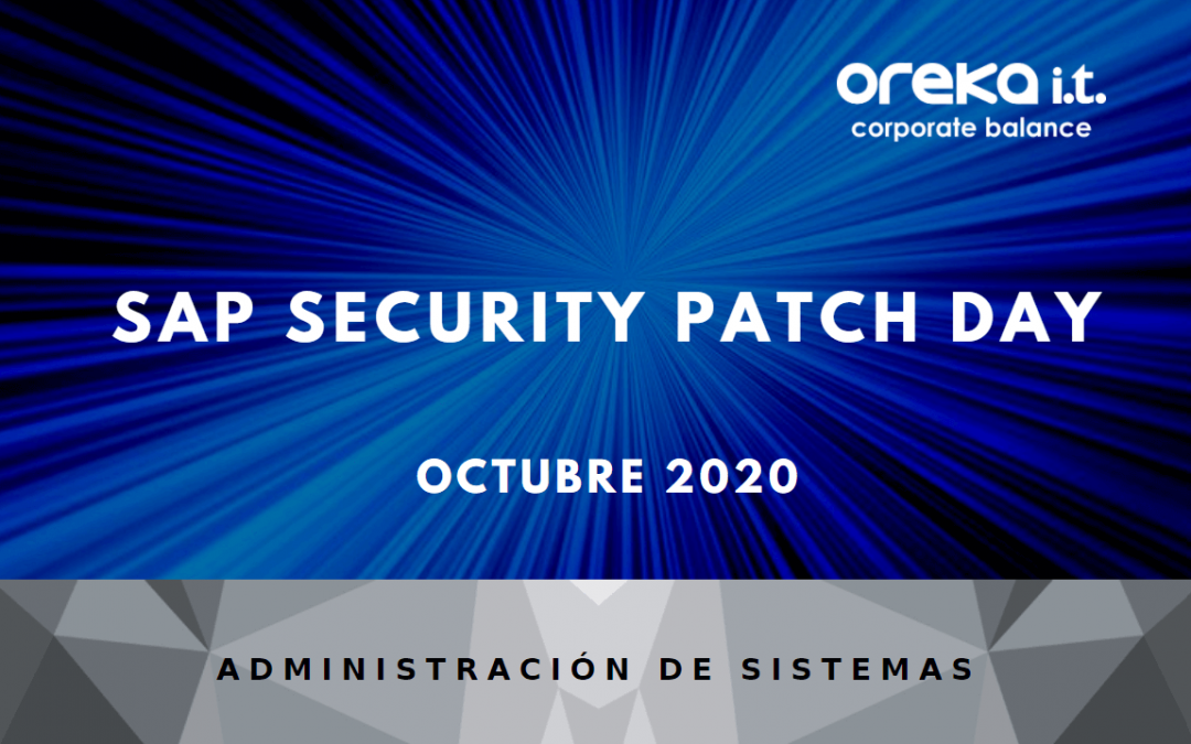 SAP Security Patch Day: octubre 2020