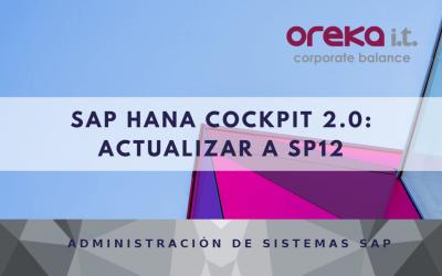SAP HANA Cockpit 2.0 actualizar a SP12