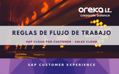 SAP Cloud for Customer · Sales Cloud: reglas de flujos de trabajo