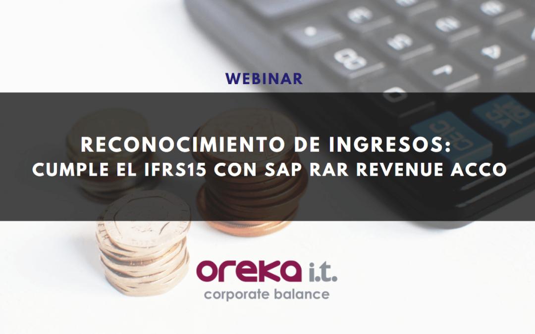 Webinar · Reconocimiento de ingresos: cumple el IFRS15 con SAP RAR Revenue Acco