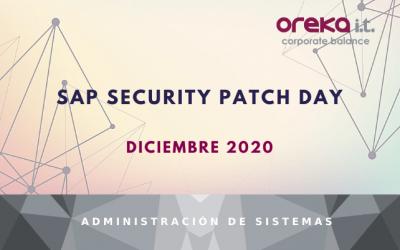 SAP Security Patch Day: diciembre 2020