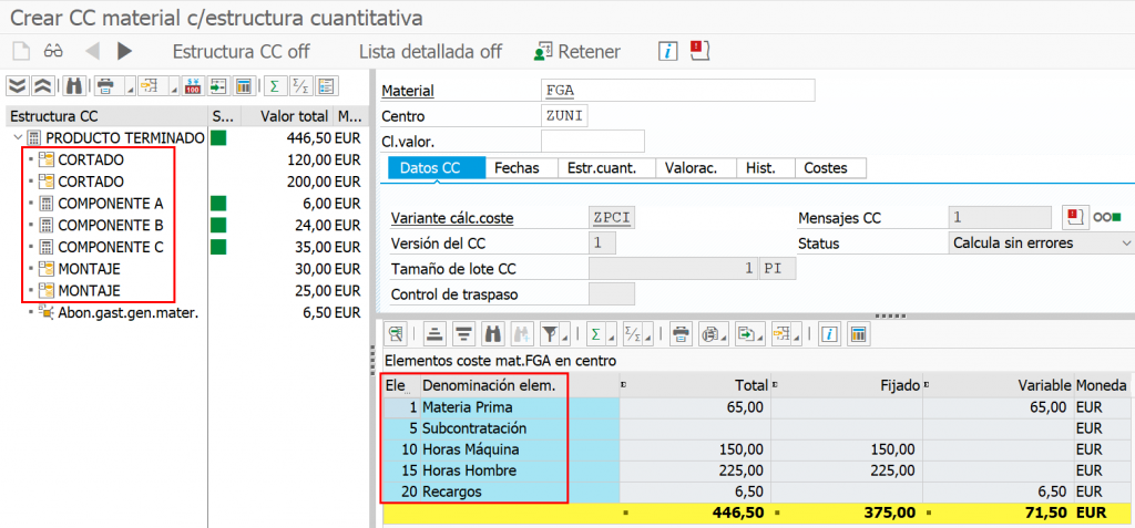 Crear CC material-estructura-cuantitativa