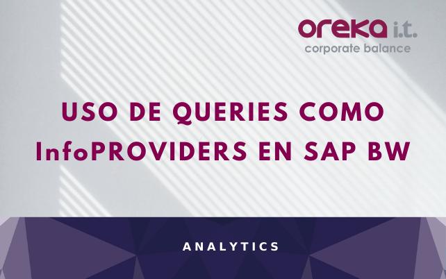 Uso de queries como InfoProviders en SAP BW