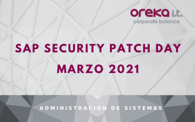 SAP Security Patch Day: Marzo 2021