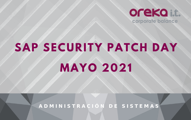 SAP Security Patch Day: Mayo 2021