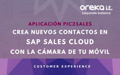 Aplicación PIC2SALES – Crea nuevos contactos en SAP Sales Cloud con la cámara de tu móvil