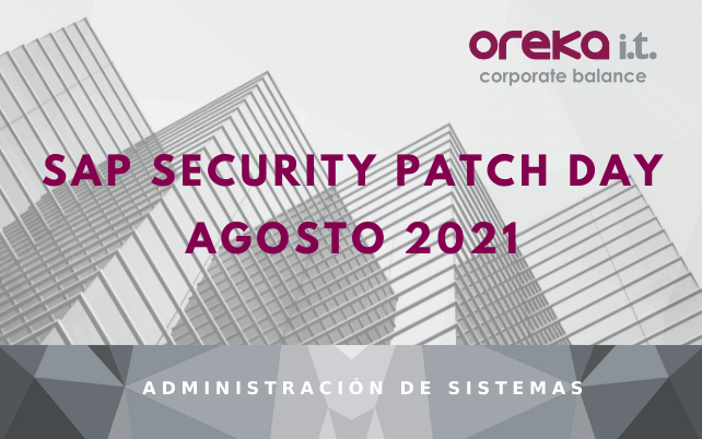 SAP Security Patch Day: Agosto 2021