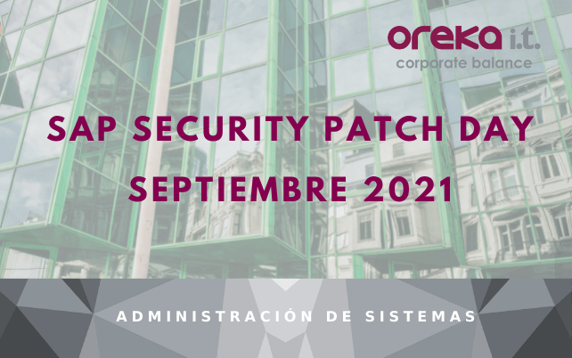 SAP Security Patch Day SEPTIEMBRE