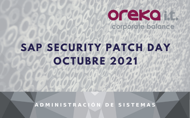 SAP SECURITY PATCH DAY OCTUBRE