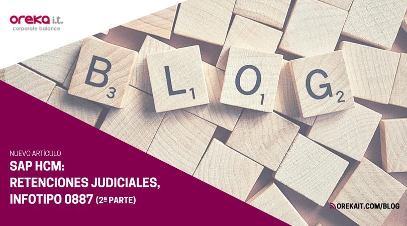 SAP HCM – Retenciones judiciales. Infotipo 0887 (II)